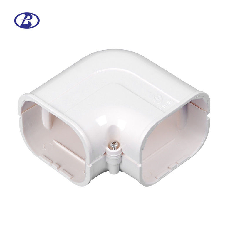 100mm AC Duct Kits Air Conditioner Pipe Cover Fitting PVC Plane Corner προμηθευτής